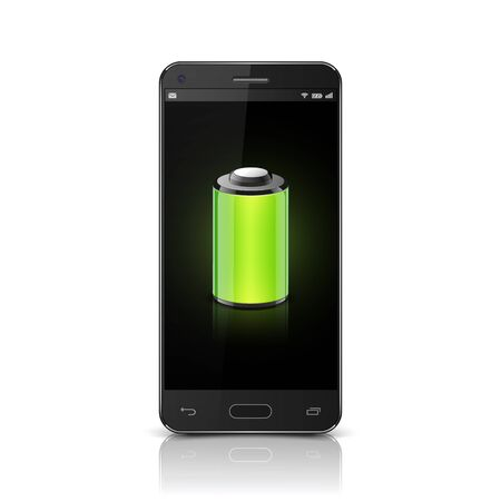 remaining: Smartphone Full Battery, vector