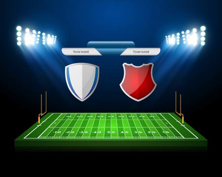 football field: American Football field, vector