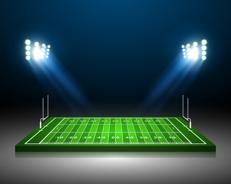 college football: American Football field, vector