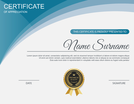 guilloche: Vector certificate template. Illustration