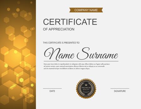 certificate design: Vector certificate template. Illustration