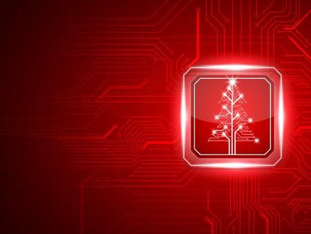 Résumé technologie tree.vector Noël Banque d'images - 48415365