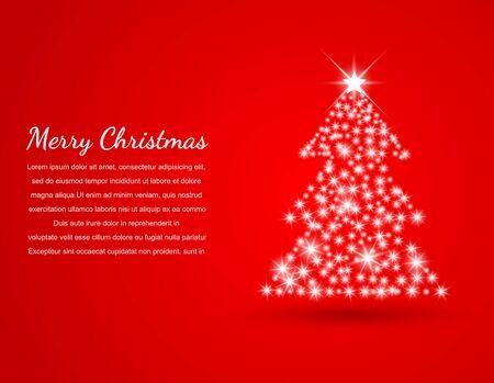 fondo rojo: Navidad de fondo, ilustraci�n vectorial