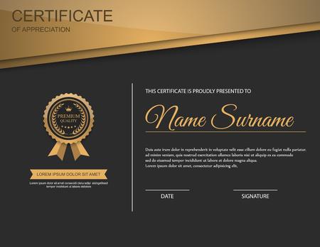 Vector certificate template. Stock Illustratie