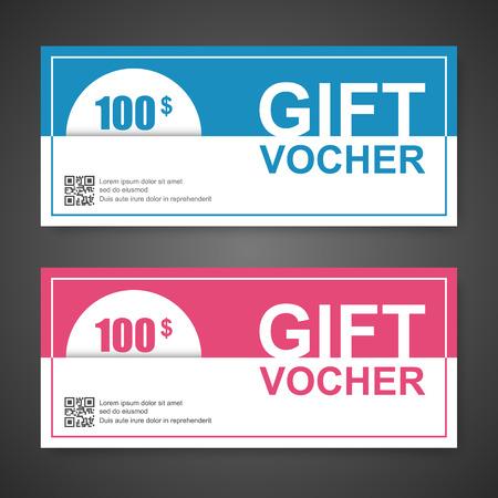 restaurant bill: Voucher, Gift certificate, Coupon template. Illustration