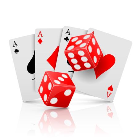 gambling: Pocker casino gambling,Casino design concept. Illustration