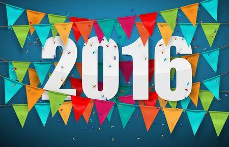 new years resolution: Happy new year 2016 design Illustration