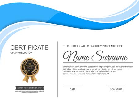 certificate template.