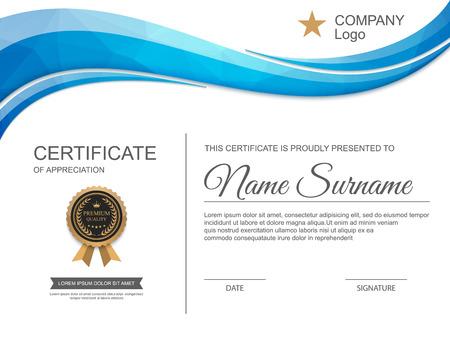 the template: certificate template.