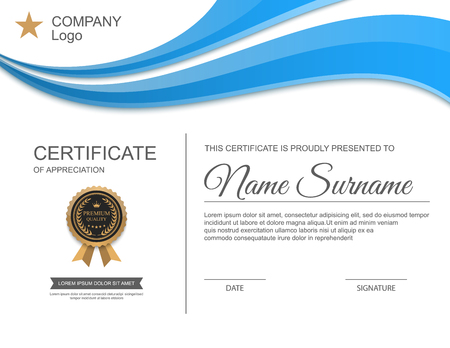 Szablon certyfikatu. Ilustracje wektorowe
