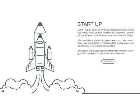 launching: Start up concept design, vector