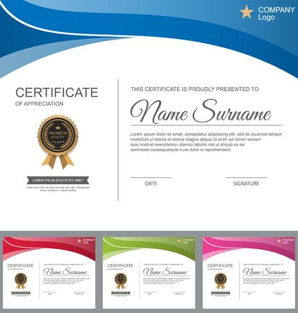 Vector certificate template. 일러스트
