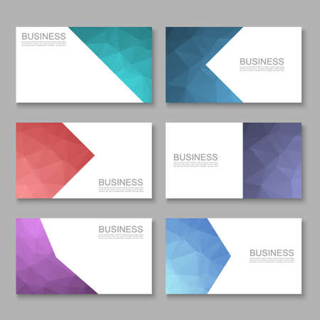 businesscard: Business Card set, Modern Abstract Businesscard, Vector Illustration