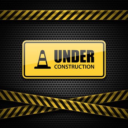 under construction sign: Under construction sign, vector Illustration