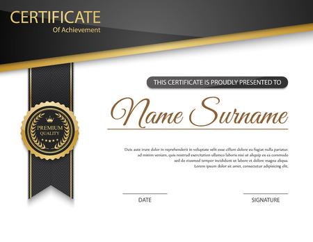Wektor Certyfikat szablonu.