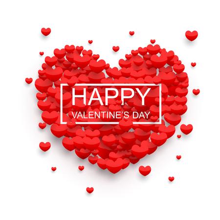 Happy valentines día de fondo, vector