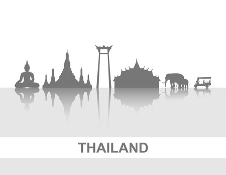 tuk tuk: Travel Thailand .Vector