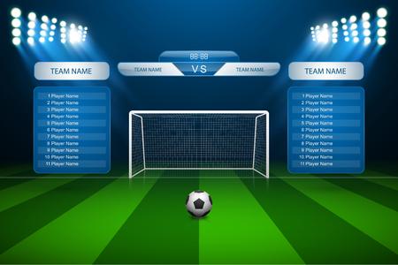 soccer goal: Soccer goal with scoreboard