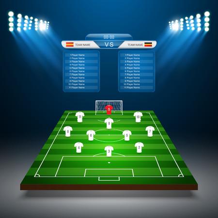soccer field: Soccer field with scoreboard