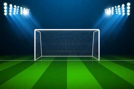 Soccer goal Illustration