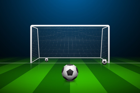 goalpost: illustration of Soccer goal and ball.