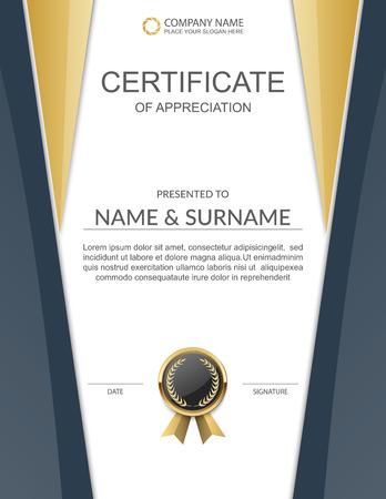 template: certificate template.