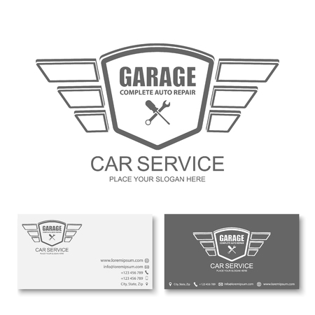 car business: ar service Business card template, Car service