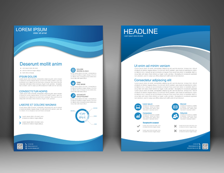 Brochure Flyer design Layout template, size A4, Vector Vettoriali