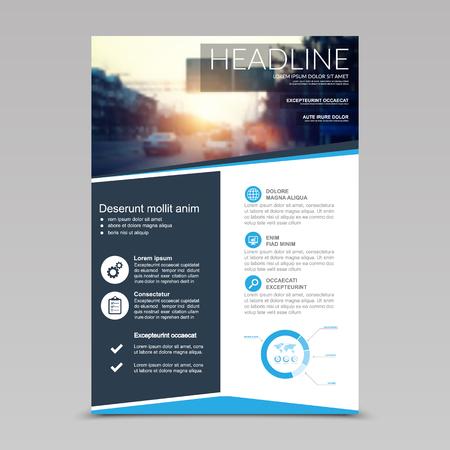 Brochure Flyer design Layout template, size A4, Vector Illusztráció