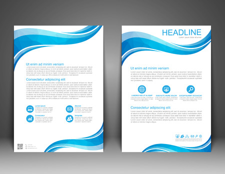 Brochure Flyer design Layout template, size A4, Vector  イラスト・ベクター素材