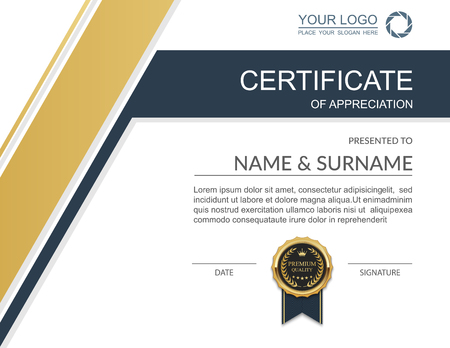 stock certificate: Vector certificate template. Illustration