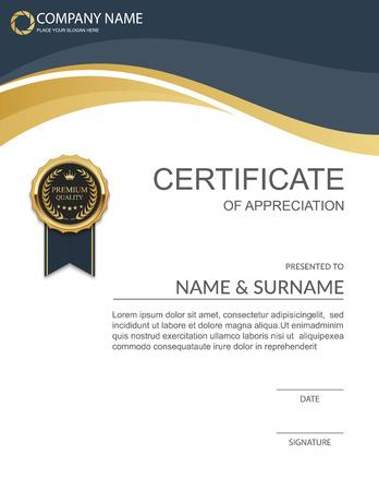 Plantilla de certificado vector.