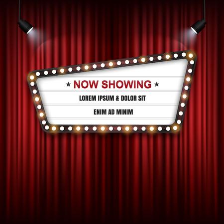 Showtime Sign, Theatre cinema Sign, Vector illustration. 일러스트