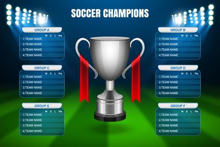 finalist: Soccer Champions Final Scoreboard Template, Vector