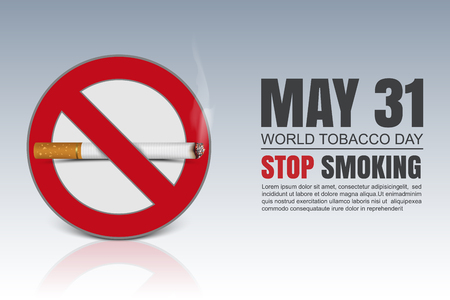 auscultation: World No Tobacco Day, vector