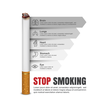 nicotine patch: World No Tobacco Day, Cigarettes infographics,Vector Illustration