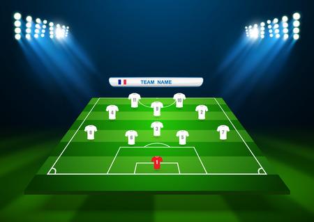 soccer field: Soccer field, vector Illustration