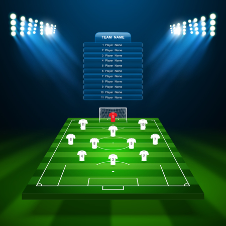 cancha de futbol: Campo de fútbol, ??vector