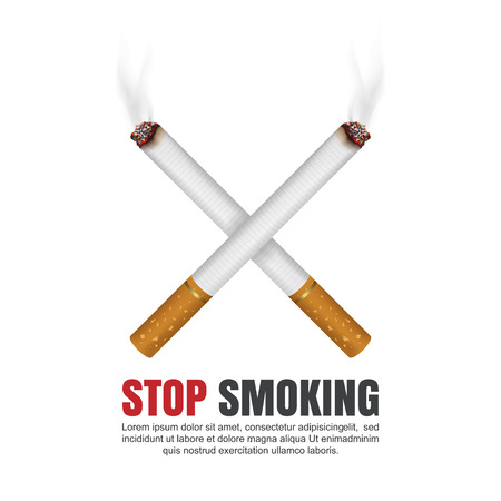 auscultation: World no tobacco day concept, No Smoking, Stop smoking, Vector