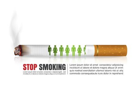 auscultation: World no tobacco day concept, No Smoking, Stop smoking, Vector