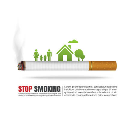 smoking stop: World no tobacco day concept, No Smoking, Stop smoking, Vector