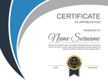Szablon certyfikatu. Nowoczesne certyfikatu. ilustracja Ilustracje wektorowe