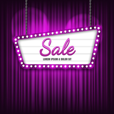 Retro sign with Sale