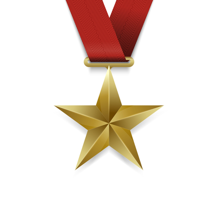 star award: Gold Star medal, Award Gold Star medal Icon.