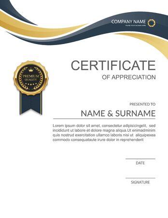 certificate design: Certificate template, Modern Certificate template design.