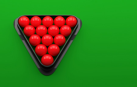 pool table: Snooker ball on the table. 3D Illustration