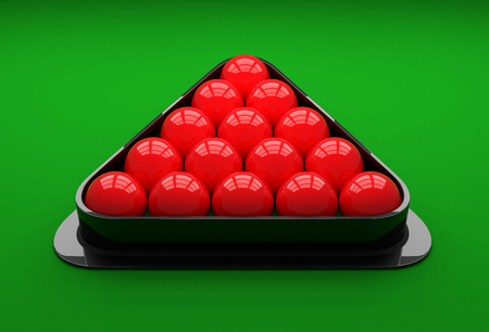 snooker: Snooker ball on the table. 3D Illustration