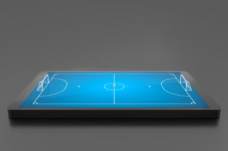 futsal: Futsal stadium, Futsal concept. 3D illustration Stock Photo