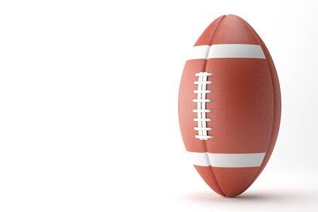 American Football on white background. 3D illustration Stock Photo
