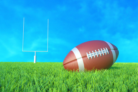 collegiate: American Football on the Field. 3D illustration
